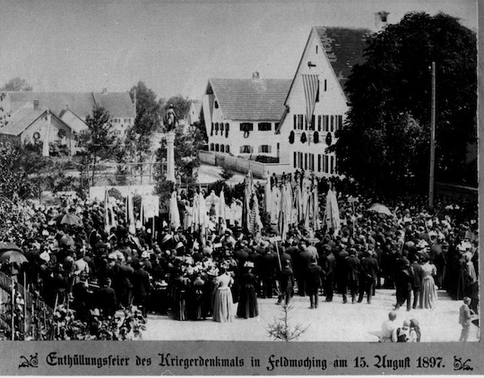 Wie die Feldmochinger Mariensäule eingeweiht wurde