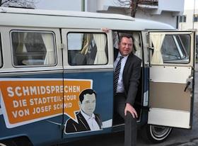 OB-Kandidat Josef Schmid auf Tour