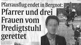 Pfarrer Bien aus Bergnot gerettet