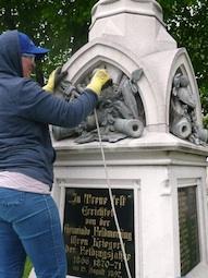 Die Mariensäule ist restauriert worden