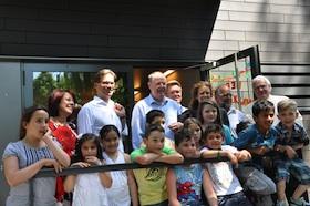 Peer Steinbrück besucht Lichtblick Hasenbergl