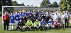 Die 1. Mannschaft TSV 54 - DJK München und die U19-Mannschaft des TSV 1860