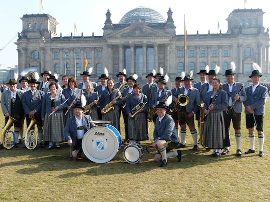 Blaskapelle Feldmoching genießt den Frühling in Berlin