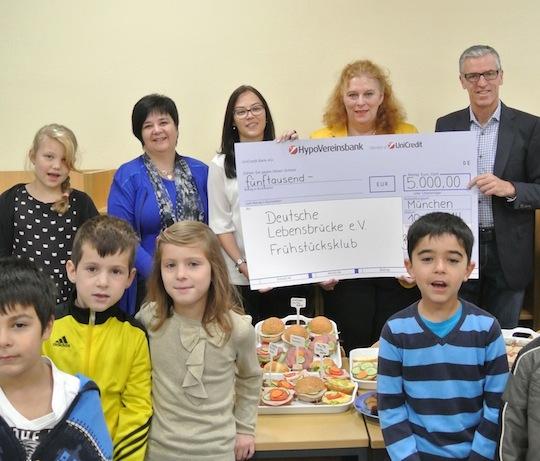 Gienger spendet 5.000 Euro für Frühstücksklub am Hasenbergl