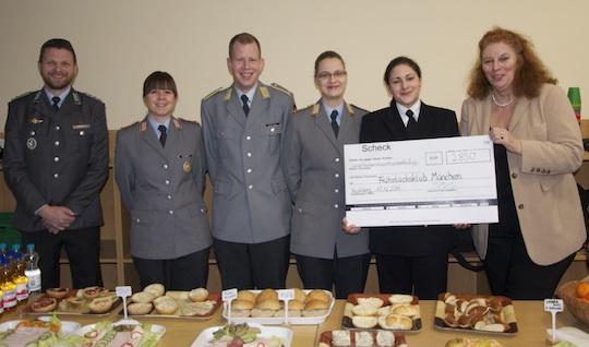 Soldatinnen & Soldaten spenden 2850 Euro für Kinder am Hasenbergl