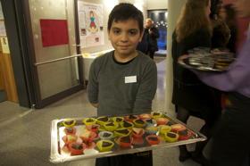 Auch für die Bewirtung der Gäste sorgten die Kinder & Jugendlichen
