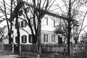 Das Göhring-Haus an der Feldmochinger Str. 222 um 1955