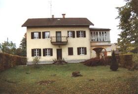 Das Göhring-Haus, Südseite rechts Anbau mit Arkaden, im Oktober 1994