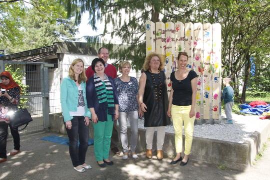 Stele Nr. 8 ziert Kindertageseinrichtung an der Ittlinger Str.