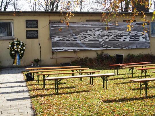Erinnerung an die Opfer des KZ-Außenlagers Dachau-Allach
