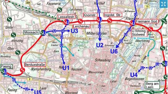 Eine S-Bahn von Pasing bis Trudering über den Nordring?