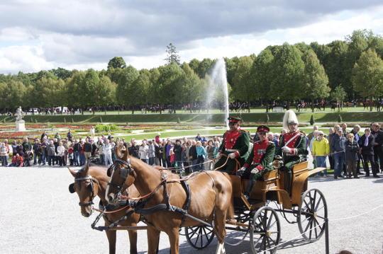 Historische Jagd- und Kutschengala im Schlosspark von Oberschleißheim