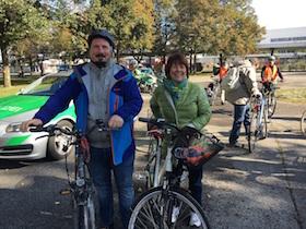 Bürgersprechstunde ganz anders: Nah dran und auf dem Fahrrad mittendrin