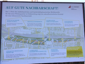 Plakat am Bahnhof Feldmoching